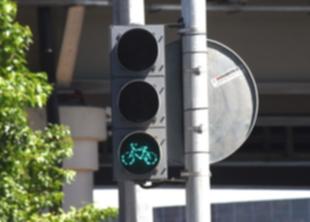 В СПб появился первый велосветофор